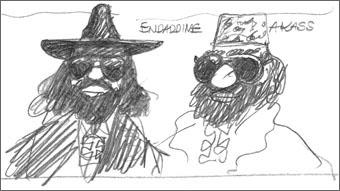 Fernand Legros dessiné par Hergé