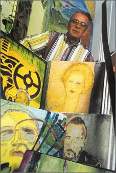 Réal Lessard et ses toiles